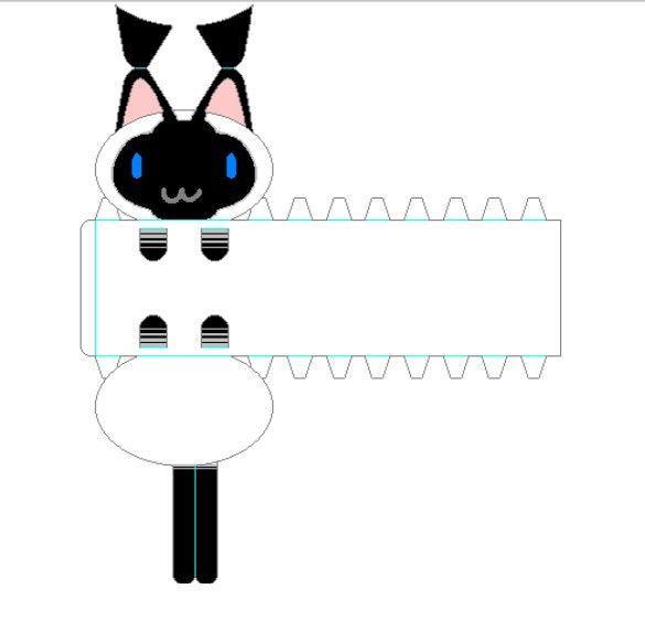 chat de papier