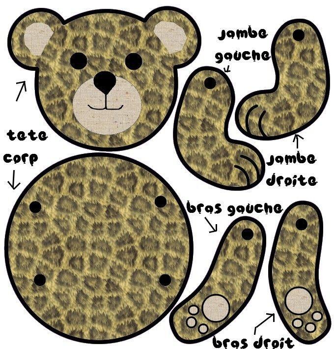 fabriquer un ourson partie face