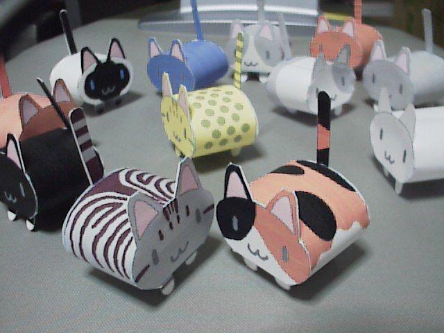 chats de papier