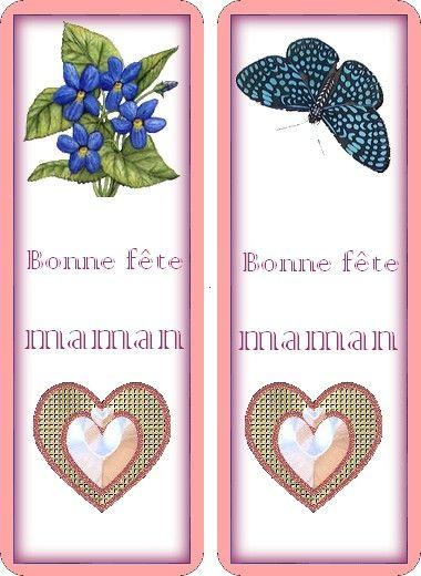 """marques pages """"fête des mères"""""""