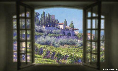 Portes et fenetres for Fenetre ouverte sur paysage