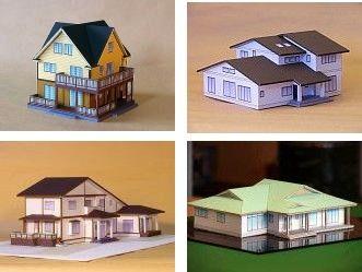 Maisons de papier page 2 - Patron de maison en papier a imprimer ...